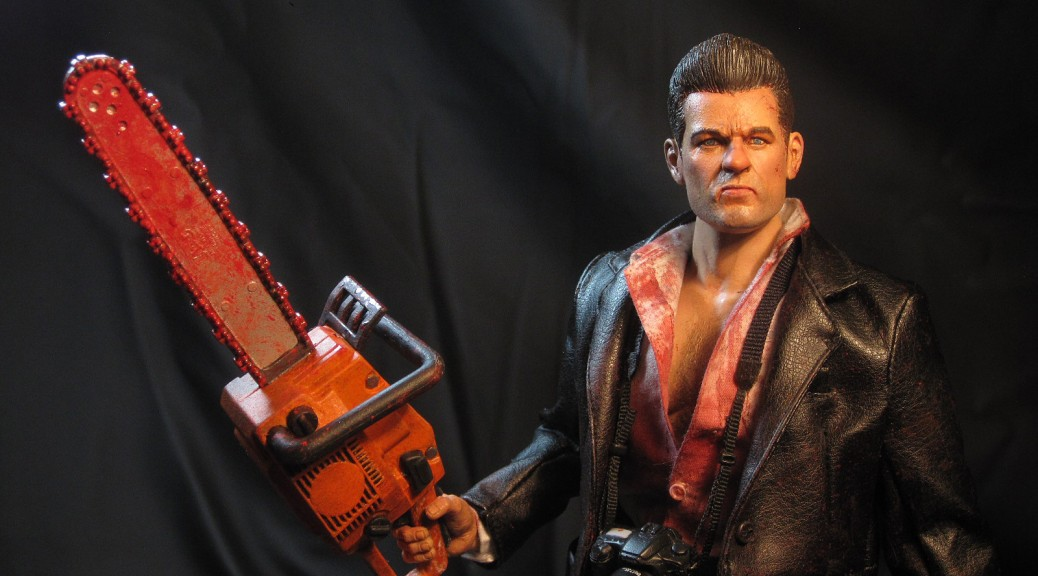 "12"" Dead Rising custom action figure Frank West Capcom - chainsaw medium shot"